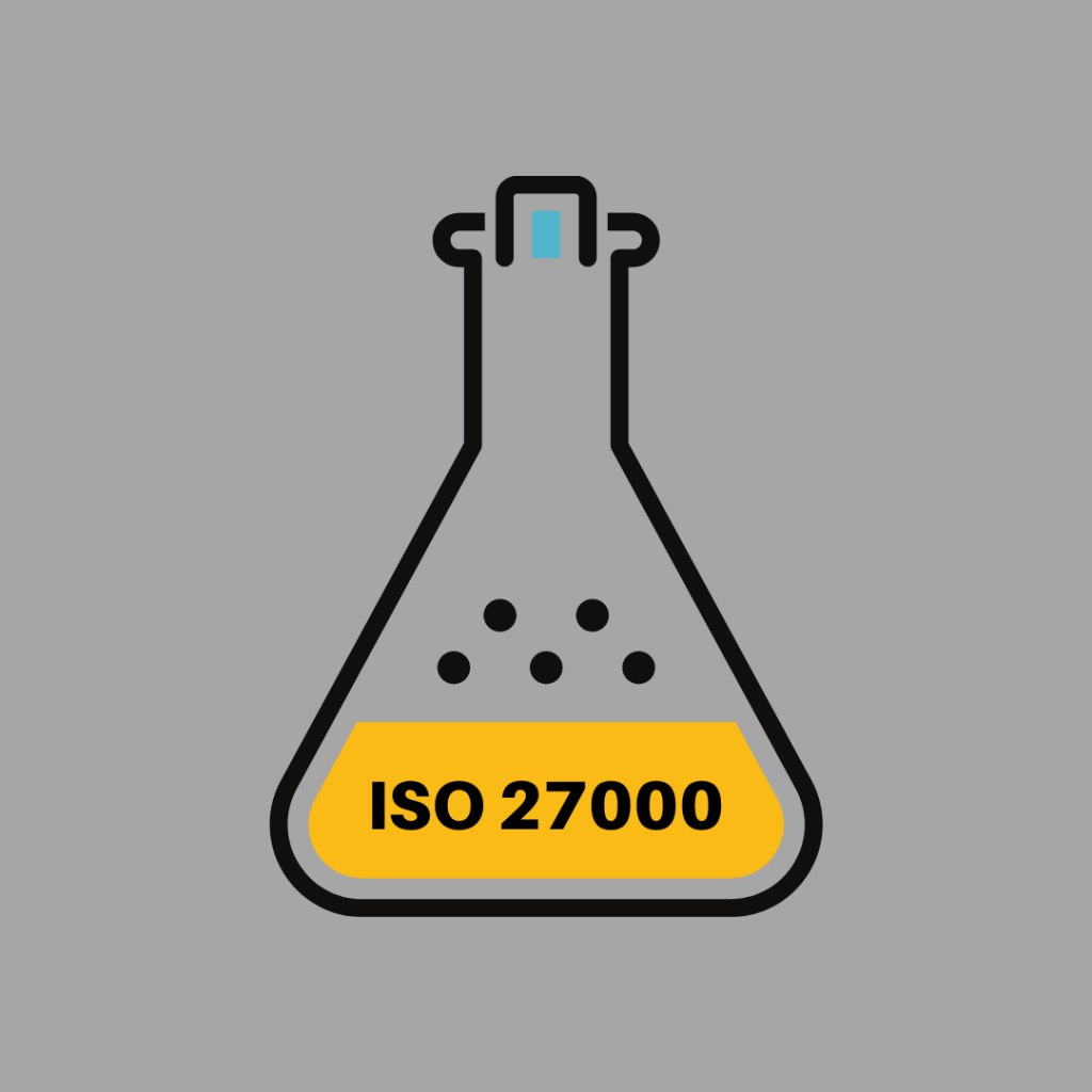 The formula for ISO 27000 consists of a family of standards like ISO 27001 and ISO 27002, ISO 27005 and more.